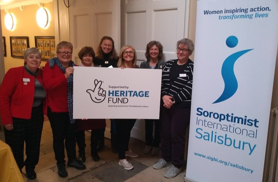 Some of the HSS team at the launch event posing with the Soroptimist and Heritage fund logos