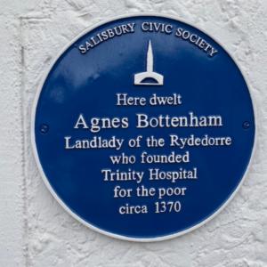 Civic Society blue plaque celebrating Agnes Bottenham