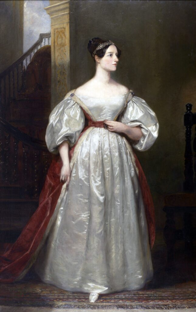 Photo of Margaret's portrait of Ada Lovelace