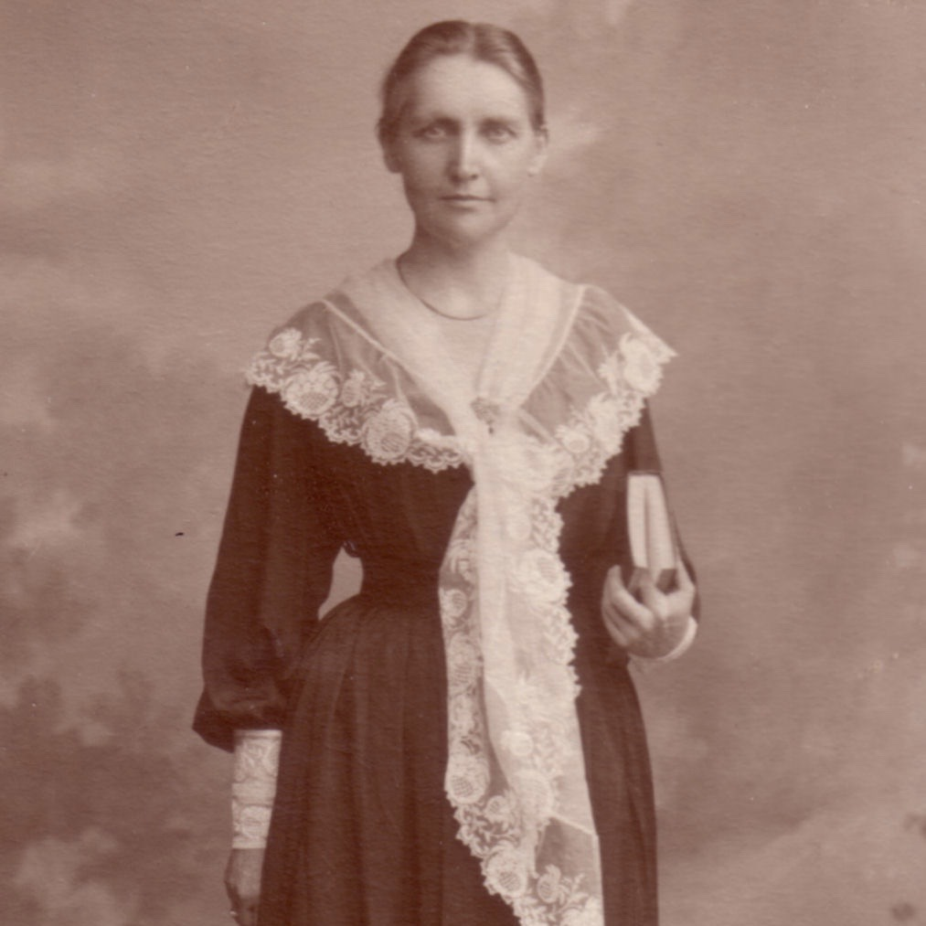 Picture of Mary Alice Douglas standing copyright Godolphin Schooll