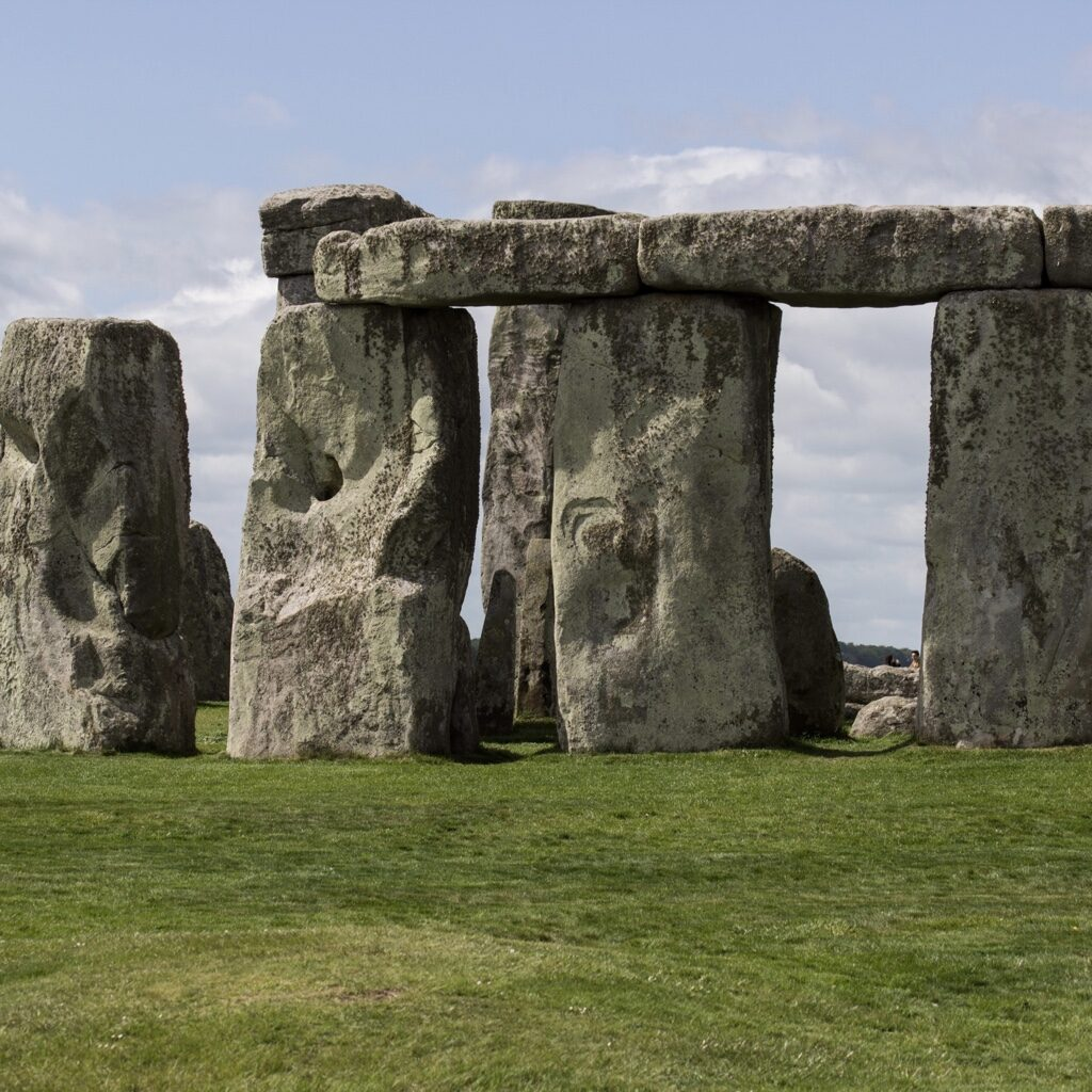 Partial view of Stonehenge