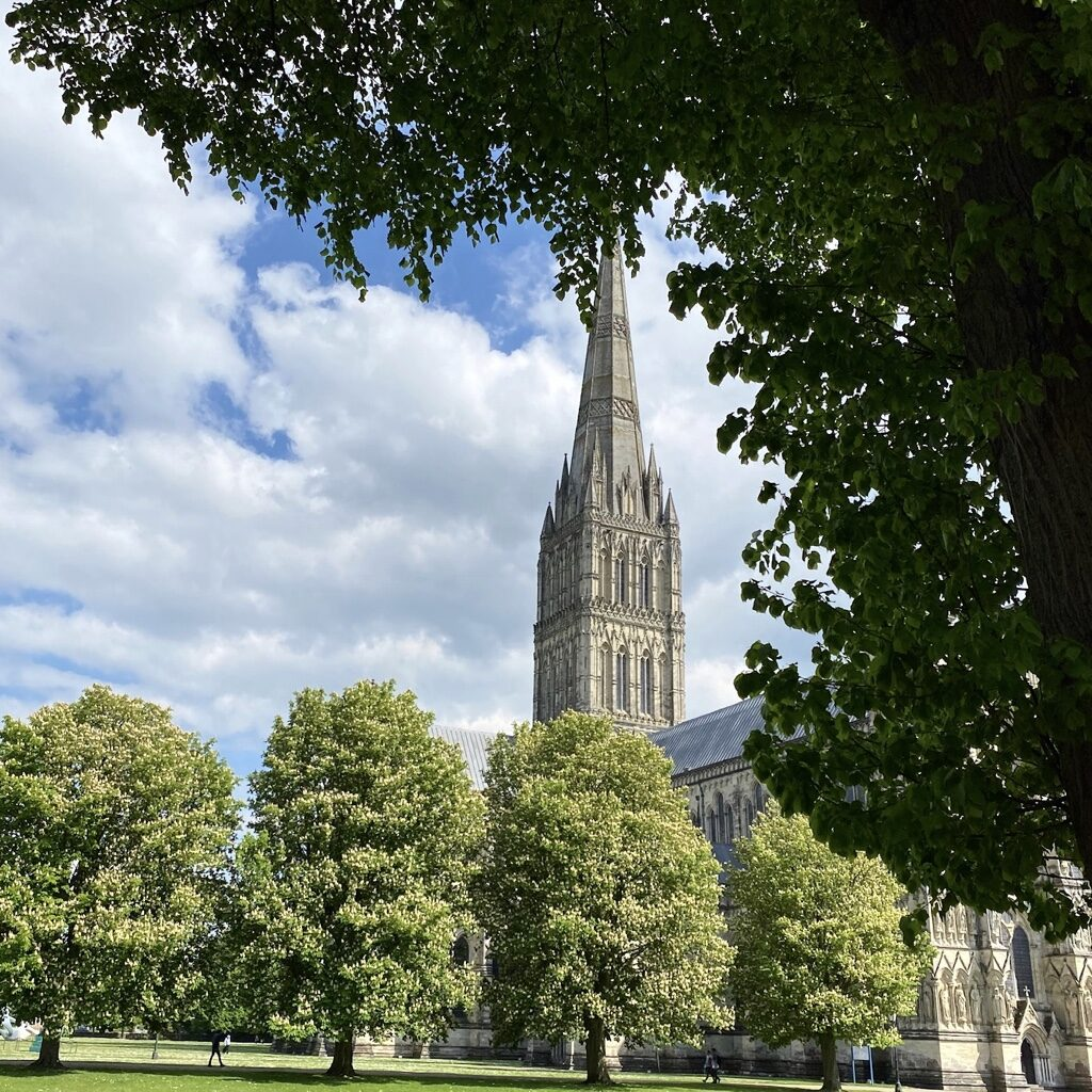 salisbury Cathedral form the West Walk