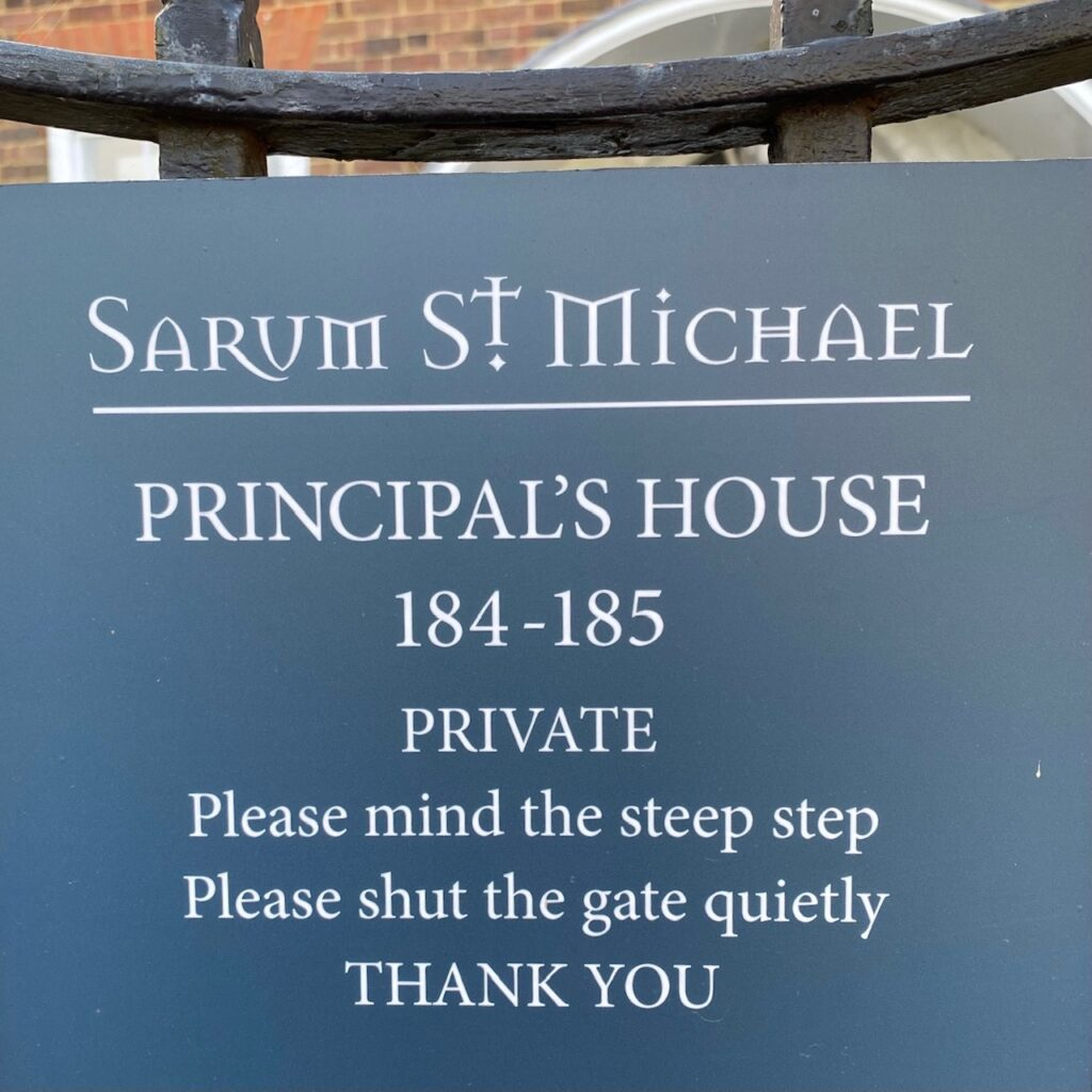 notice on the gate of the Principal's House