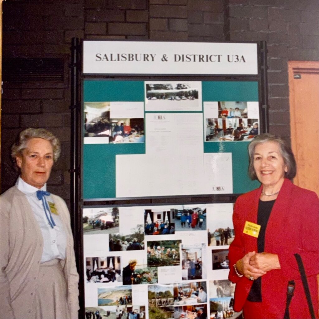 Phyllis with Dr Ann Donaldson at the U3A National Conference at lancaster University 1994