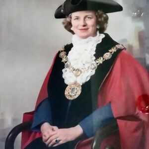 Lady Jo Benson in Mayoral robes