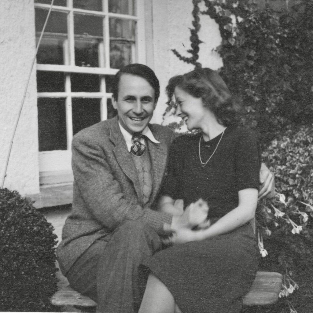 Jill & Laurence on honeymoon North Devon 1939 taken by her mother Celia Furze