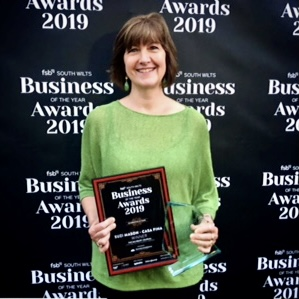 Susi with her lifetime achievement award in 2019