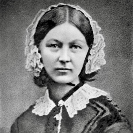 Head & shoulders shot of the young Florence Nightingale