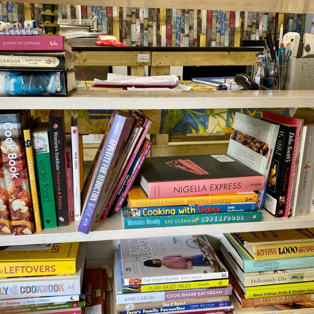 Cookery books at the Pantry Partnership