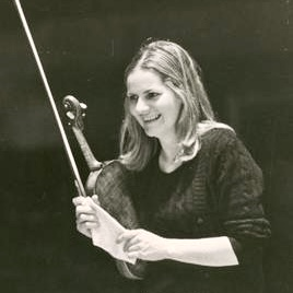 Iona with her violin