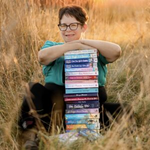 Mandy with her books