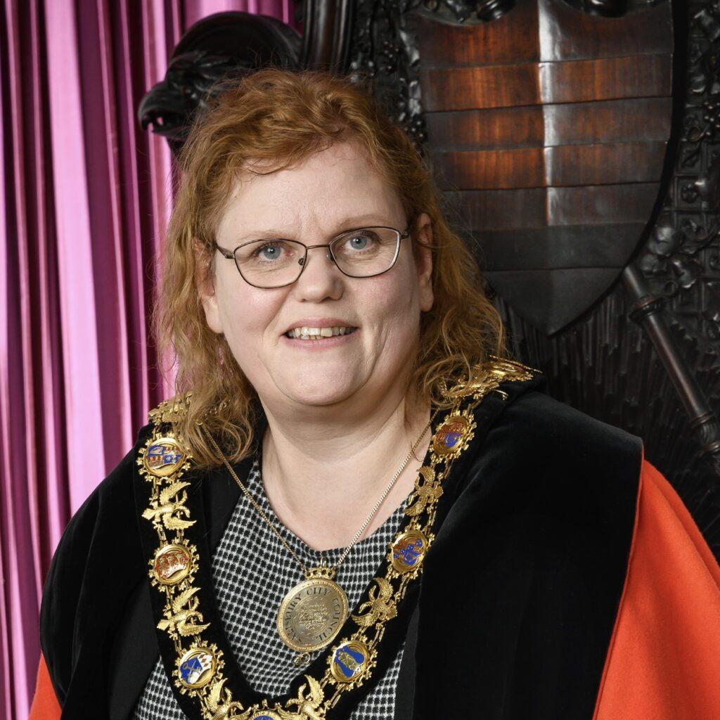 Caroline in her Mayoral Robes