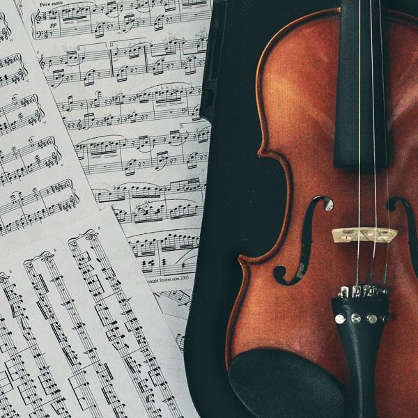 violin plus music
